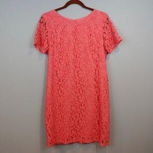 Ann Taylor Pink Lace Dress